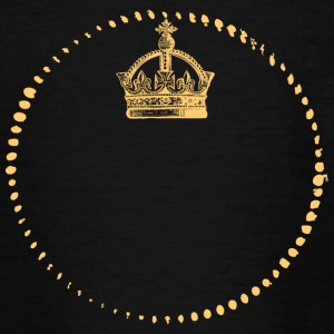 Crown - King - Queen - EIGEN tekstinvoer - Teenager T-shirt