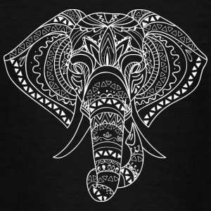 Olifant hoofd wit - Teenager T-shirt
