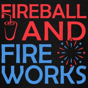 Fireball en vuurwerk - Teenager T-shirt