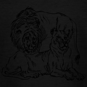 lion family - Teenage T-shirt