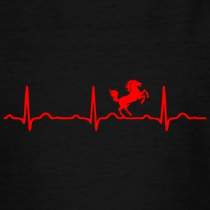 ECG HEARTBEAT CHEVAL rouge - T-shirt Ado