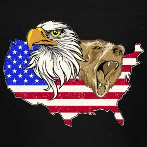 USA Adler eagle grizzly bear America America - Teenage T-shirt