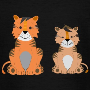 zwei süße Tiger - Teenager T-Shirt