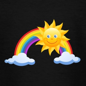 Sun, rainbow, clouds - Teenage T-shirt