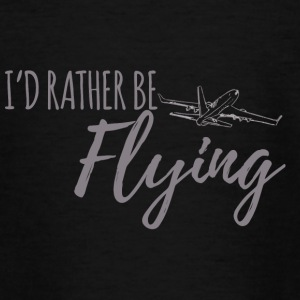 Pilot: I'd rather be flying. - Teenage T-shirt