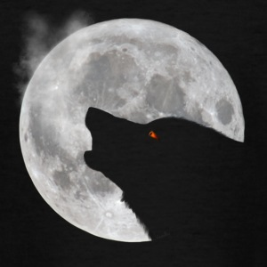 Wolf howling in front of moon - Teenage T-shirt