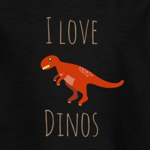 I love Dinos - Teenager T-Shirt