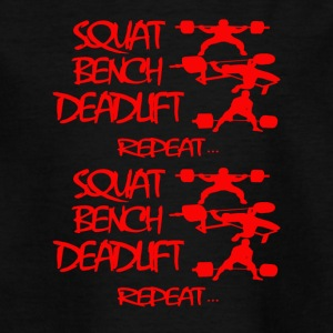 REPEAT Powerlifting - T-shirt Ado