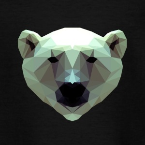 3D Polygon Design Bjørn Icebear T-shirt Tee - Teenager-T-shirt