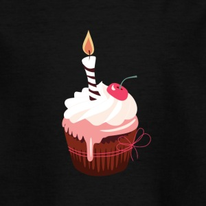Cupcake mit Kerze - Teenager T-Shirt