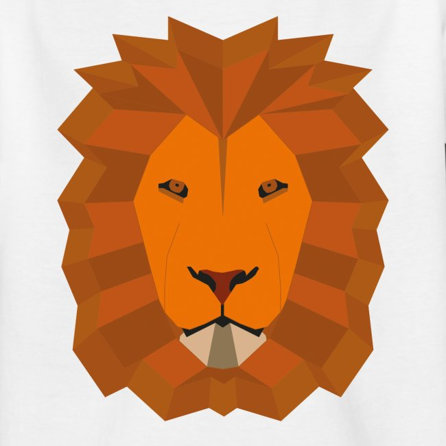 Lion geometric vector coloured No Back Cropp