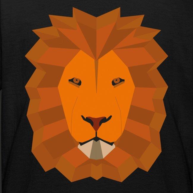 Lion geometric vector coloured No Back Cropp