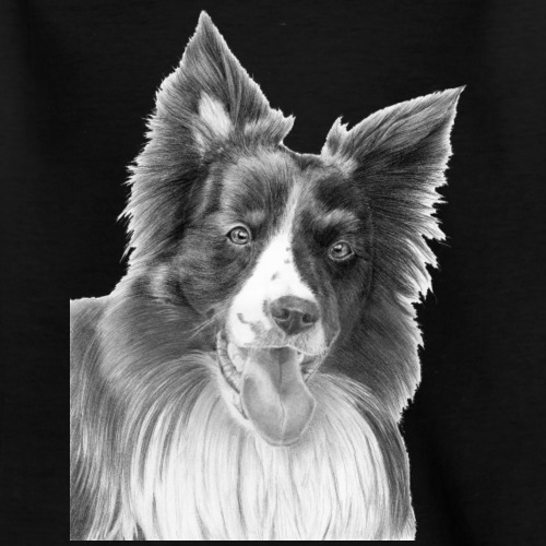 border collie 3 - Teenager-T-shirt