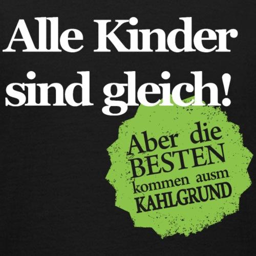 Kinder sind gleich, außer Kahlgründer - WEIß/GRÜN - Teenager T-Shirt