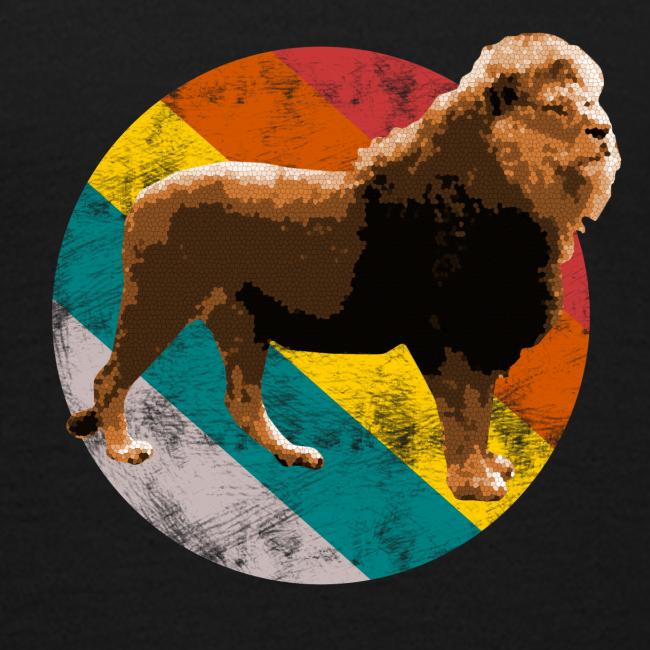 Löwe Pop Art Afrika Raubtier Tier Teenager T Shirt