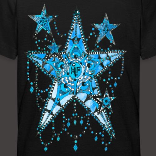 ETOILE DENTELLE BLEUE - T-shirt Ado