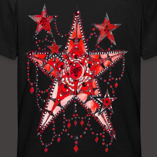 ETOILE DENTELLE ROUGE - T-shirt Ado