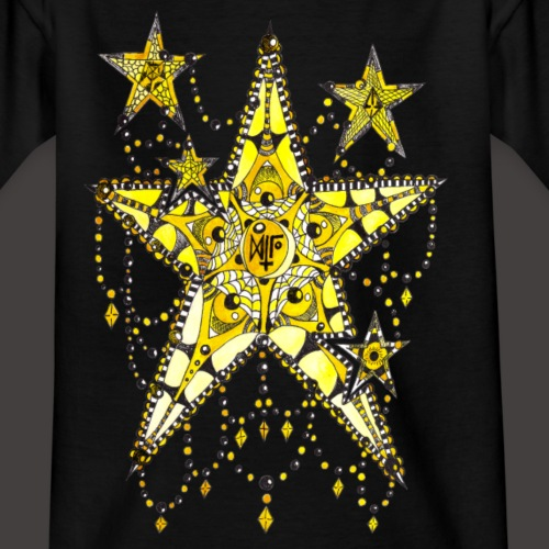 ETOILE DENTELLE JAUNE - T-shirt Ado