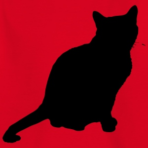 Vector Cat Silhouette - Teenage T-shirt