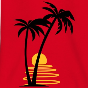 Palm trees with sun allround designs - Teenage T-shirt