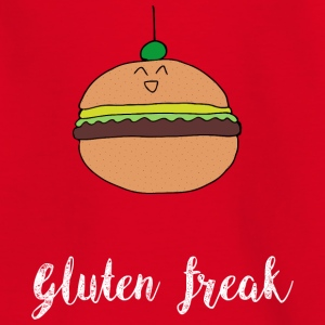 Gluten freak hamburger humor t-shirt white - Teenage T-shirt