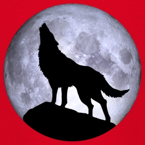 Wolf Full Moon Halloween aften mareridt mareridt - Teenager-T-shirt