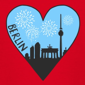 Berlin by night, hart, stad, ik hou van, Silhouet - Teenager T-shirt