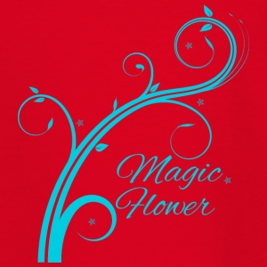 Magic Flower blue - Teenage T-shirt