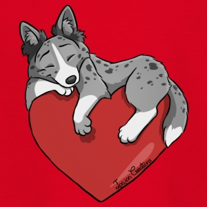 Border Collie Blue Merle Heart - T-shirt tonåring
