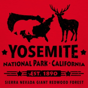Yosemite National Park Kalifornien Bear Redwood - T-shirt tonåring