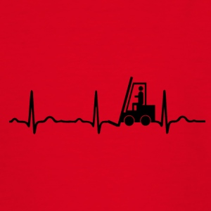 ECG HEARTBAR FORKLIFTS black - Teenage T-shirt