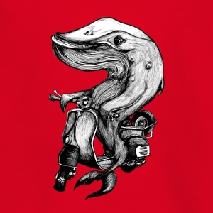 Vespa and Whale - Teenage T-shirt
