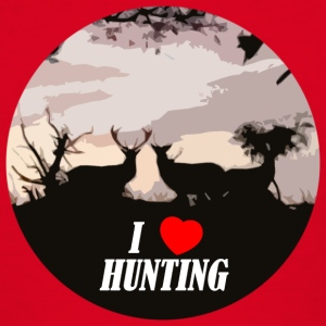 I love hunting - Teenage T-shirt