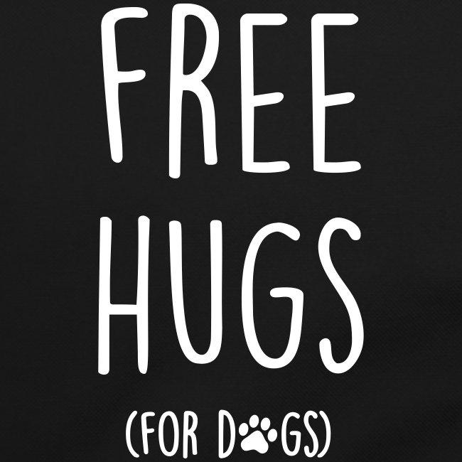 Vorschau: free hugs for dogs - Umhängetasche