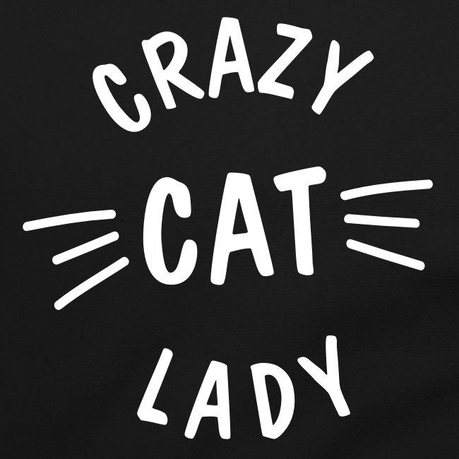 Vorschau: Crazy Cat Lady meow - Umhängetasche