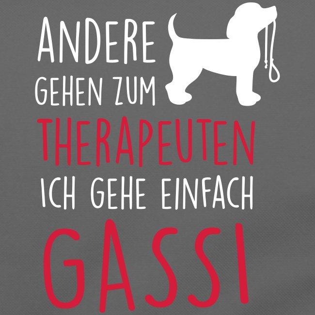 Vorschau: Gassi Therapeut Hund - Umhängetasche