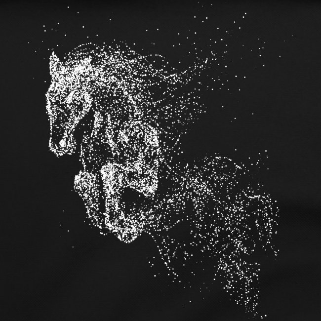 Vorschau: jumping horse white - Umhängetasche