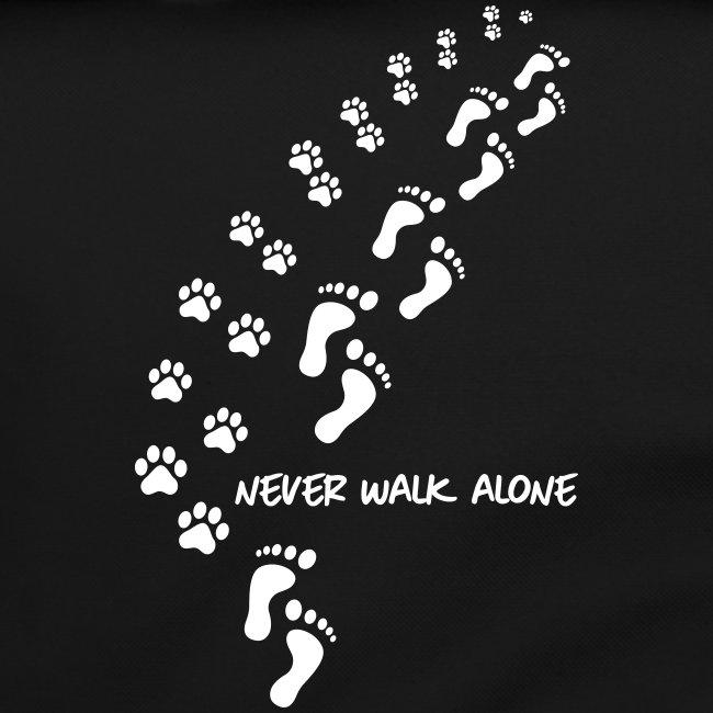 Vorschau: never walk alone dog - Umhängetasche