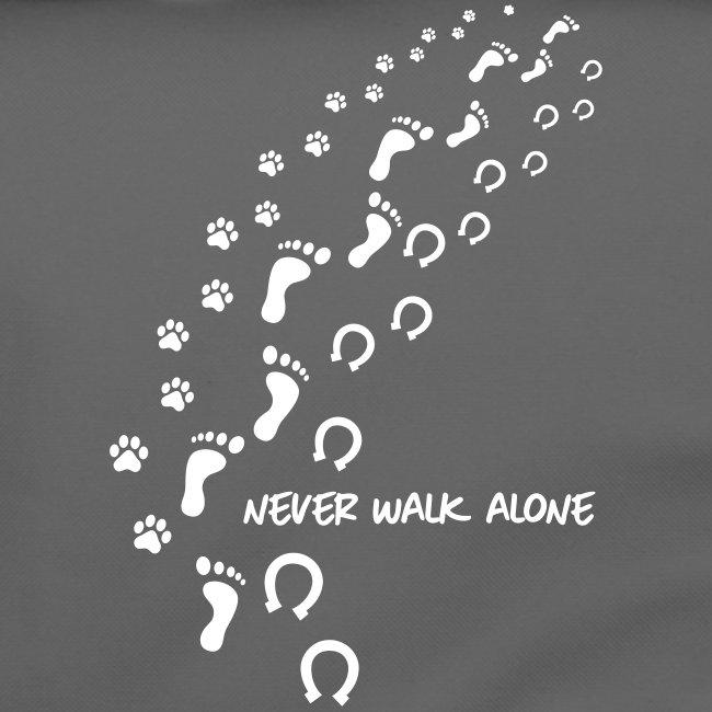 Vorschau: never walk alone hund pferd - Umhängetasche