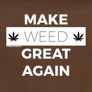 MAKE WEED GREAT AGAIN white - Shoulder Bag