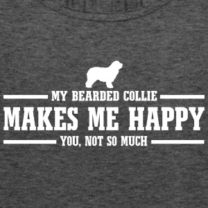BEARDED COLLIE makes me happy - Women's Tank Top by Bella
