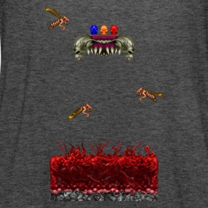 Scene pixelart Horror Game - Vrouwen tank top van Bella
