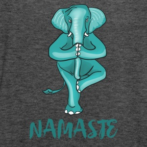 elephant-namaste yoga meditation tree ganesha ohm - Women's Tank Top by Bella