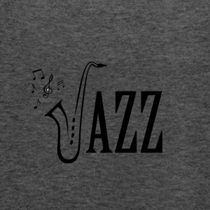 Cool jazz musik shirt, saxofon og Musical noter - Dame tanktop fra Bella