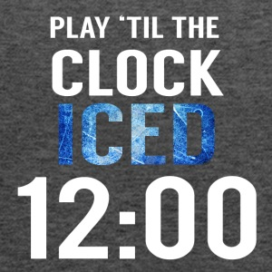 Hockey: Play'til the clock iced 12:00 - Women's Tank Top by Bella