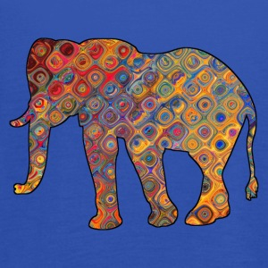 Colorful Elephant on a t-shirt - Women's Tank Top by Bella