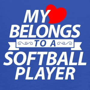 My heart belongs to a softball player - Women's Tank Top by Bella