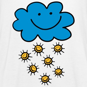 Funny cloud with sun, summer, spring, weather - Women's Tank Top by Bella