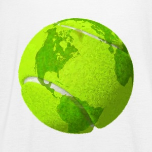 tennis ball planeten jorden kloden tennisball earth - Singlet for kvinner fra Bella