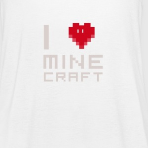 I love MC love computer games Nerd square face - Women's Tank Top by Bella